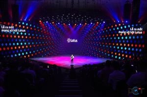 Sân khấu ra mắt mạng xã hội Lotus: Bùng nổ, sáng tạo, quy mô hoành tráng