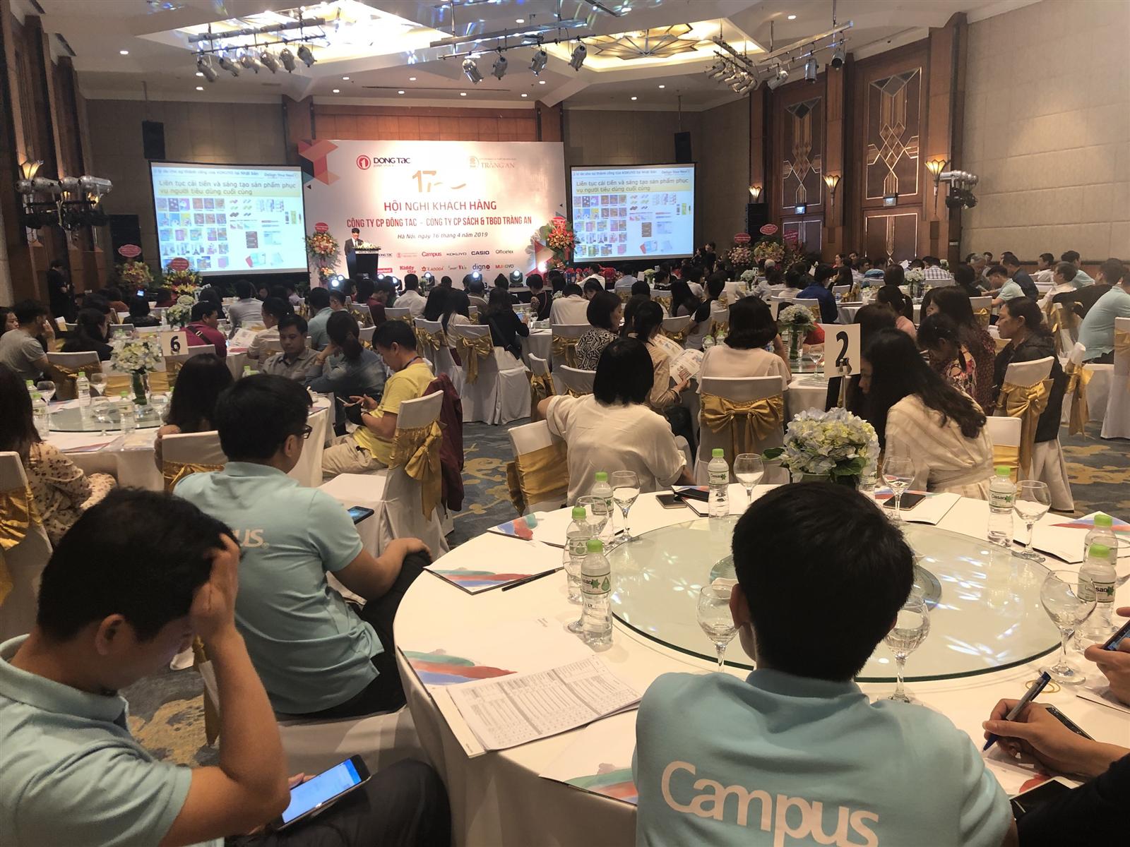 Hội Nghị Gặp Mặt Khách Hàng của Công ty CP Đông Tác - Công ty CP Sách & TBGD Tràng An được diễn ra tại Hà Nội, ngày 16 tháng 04.